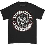 Motorhead Men's Biker Badge T-Shirt, Black, X-Large