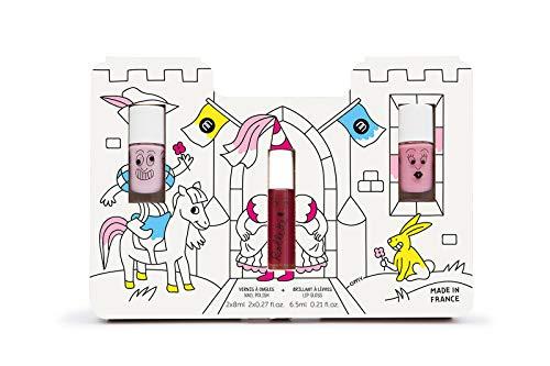 Pack 2 Esmaltes y Brillo de labio (Bella y Cookie y Frambuesa)