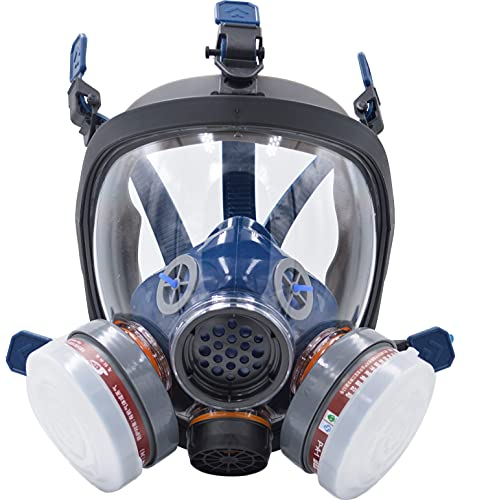 Full Face Respirator Mask Gas Chemical dust paint Mask Respirators Safety Mask with Activated Carbon Filter