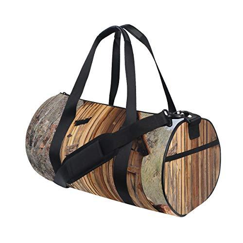 ZOMOY Sporttasche,Nebengebäude alte Olivenbäume drucken,Neue Bedruckte Eimer Sporttasche Fitness Taschen Reisetasche Gepäck Leinwand Handtasche