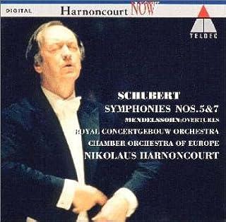 シューベルト:交響曲第5番/第7番「未完成」 メンデルスゾーン:序曲「美しいメルジーネの物語」/序曲「フィンガルの洞窟」