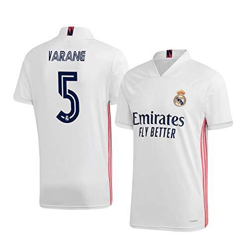 F-shop Raphaël Varane Real Madrid Weiß,Maillot Raphaël Varane Trikot 2020/21 für Herren & Jungen(Weiß,XL)