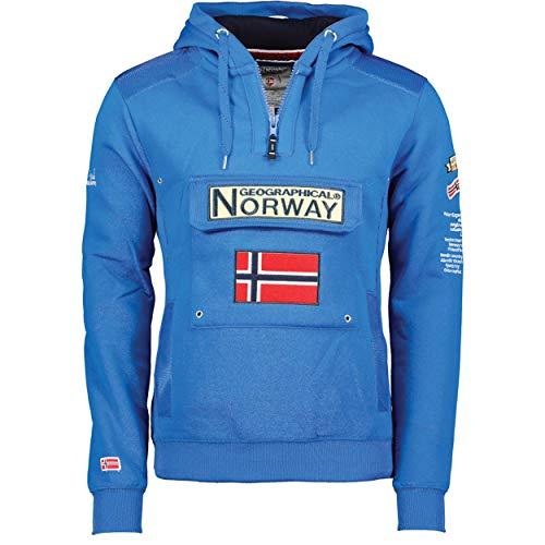 Geographical Norway - Sudadera DE Hombre GYMCLASS Azul...