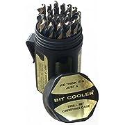 "Drill America - DWD29J-CO-PC 29 Piece M35 Cobalt Drill Bit Set in Round Case (1/16"" - 1/2"" X 64ths), DWDCO Series"