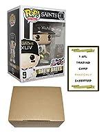 Funko Pop! NFL Football Drew Brees Super Bowl XLIV Champions Vinyl Figure - Drew Brees Funko Pop #138 New Orleans Saints Figure + 1 NFL Trading Card + 1 Cardboard Pop Protector Box