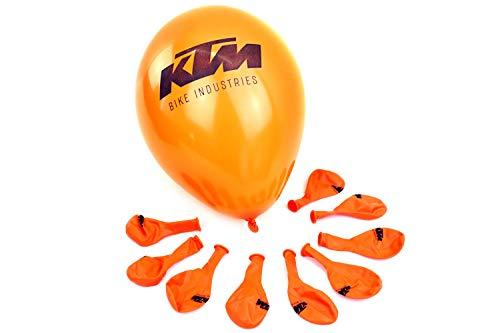 KTM Luftballon mit Logo-Print in Orange/schwarz + Bisomo-Sticker, Menge:10