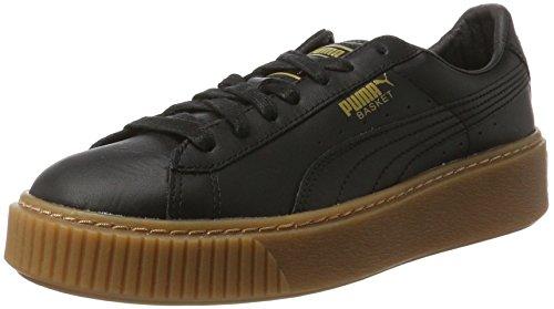 Puma Damen Basket Platform Core Sneaker, Schwarz Black Black, 38 EU