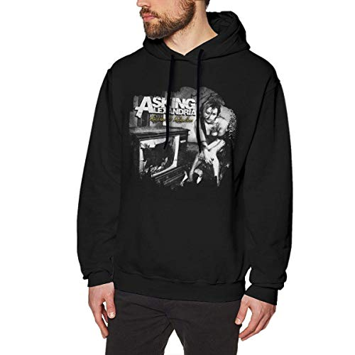 HSJCBHLS Männer Hoodies Men's Asking Alexandria Reckless & Relentless Fashion Hooded Sweatshirt Black Personality top