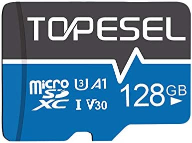 TOPESEL 128GB Micro SD Card Memory Cards A1 V30 U3 Class 10 Speed up to 85m s Micro SDXC UHS product image