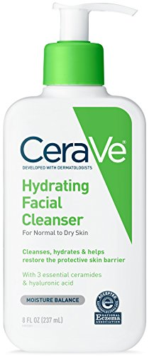 CeraVe Facial Cleanser, Hydrating Cleanser, 8 Ounce by CeraVe