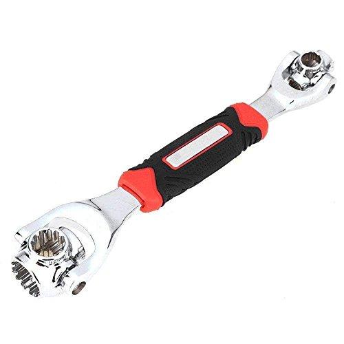 Universal Wrench Schraubenschlüssel 48 in 1 Steckschlüssel Multifunktionsschlüssel Werkzeug mit 360 Grad Drehkopf, Universal Möbel Auto Reparatur