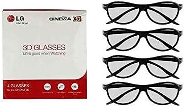 LG 3D - Gafas de sol (4 unidades), color negro