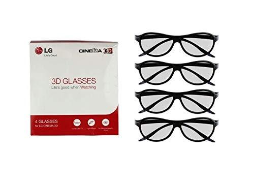 LG 3D GLASSES Budle (Pack of 4) BLACK pasive - 4 black glasses for LG Cinema 3D