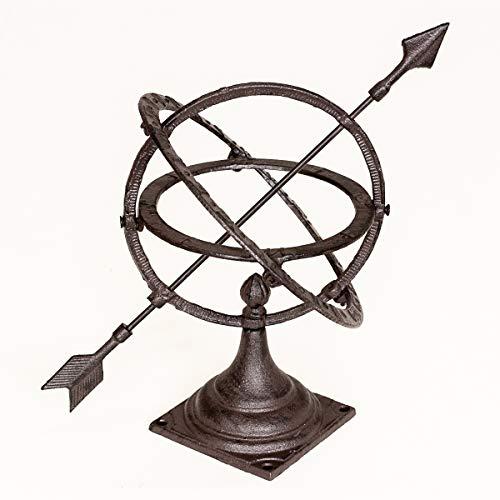 Antikas | kleine Sonnenuhr für Garten & Terasse | Höhe: 30 cm - Breite: 24 cm | dekorative Schattenuhr für Gartenliebhaber