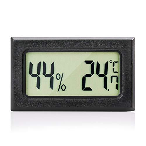 MAVORI® Digital Mini Innen Thermometer Hygrometer - Zimmerthermometer und Luftfeuchtigkeitsmessgerät für Wohn- und Büroräume, Keller, Terrarium, Auto - NEUES MODELL (1 St.)