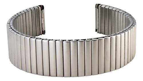 Citime Silber Edelstahl Uhrenarmband, Matte Oberfläche, Erweiterungsarmband, 14mm Ersatzband _ S14003
