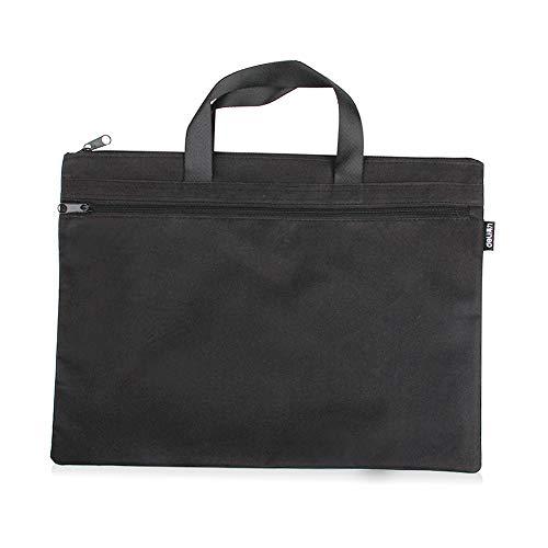 Bureau Document Sac, Hommes Porte-Documents Classeur Portable A4 Fichier Zipper Sac Noir 1 Pièce