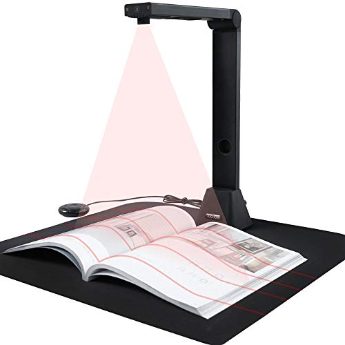 iOCHOW High Definition Professional Scanner, Auto-Flatten & Deskew Tech Scanner for Office and Education