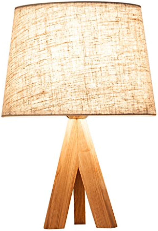 Tischlampe Nachttischlampe für Schlafzimmer Holztuch Licht kreative Persnlichkeit Lichter einfache moderne Licht Wohnzimmer Lampe