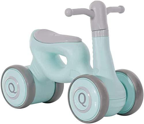 HEBAI Mini niños Walker, Cubierta de bebé al Aire Libre Bike Balance Sin Pedal del Coche de bebé Paseo en Juguetes for los 1-3 años 10.26 (Color : Green)