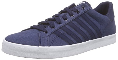 K-Swiss Belmont SO T HVY CVS, Low-Top para Hombre, Azul Marino y Blanco, 41 EU
