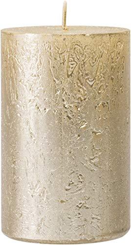 safe candle Kerze Nova selbstverlöschend, 4 Stück, Höhe 11cm / Ø 7cm, 51 Std. Brenndauer (Creamgold)