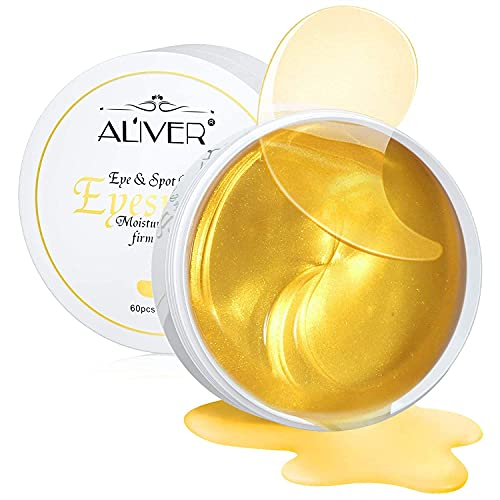Maschera per il trattamento sotto gli occhi in oro 24 carati - 30 paia di bende per occhiaie, antirughe, cuscinetti in gel sotto gli occhi, maschera per occhi al collagene per occhi gonfi, idratante