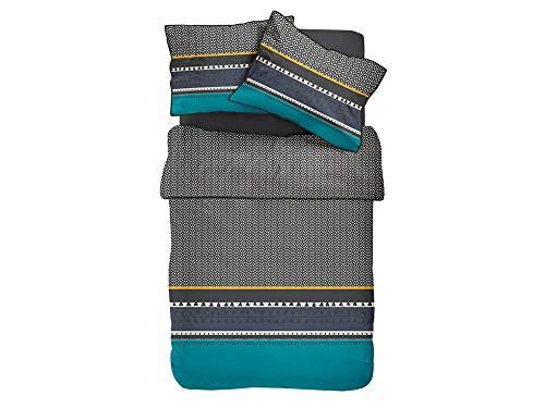 TODAY Parure de lit pour 2 Personnes, Coton, Multicolore, 220x240 cm