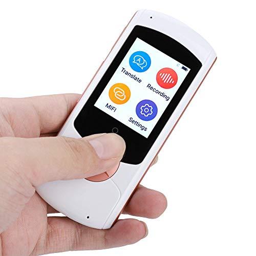 Dispositivo de traducción Inteligente sin conexión a múltiples Idiomas, Soporte de traductor automático de Voz 41 Idiomas, WiFi, Bluetooth(Blanco)