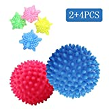 Trocknerblle Wscherei Ball 6PCS Laundry Ball Washing Ball Solid Bunte Maschine Waschen Ball Kunststoff Trockner Blle (SK-01)