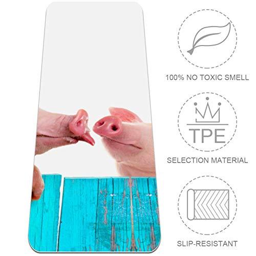 OKONE Grappig varken opknoping op een hek Yoga Mat voor Oefening, Yoga, en Pilates All-Purpose Hoge Dichtheid Anti-Tear