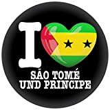 FanShirts4u Button/Badge/Pin - I Love SÃO TOMÉ UND PRINCIPE Fahne Flagge (I LOVE SÃO TOMÉ UND PRINCIPE)