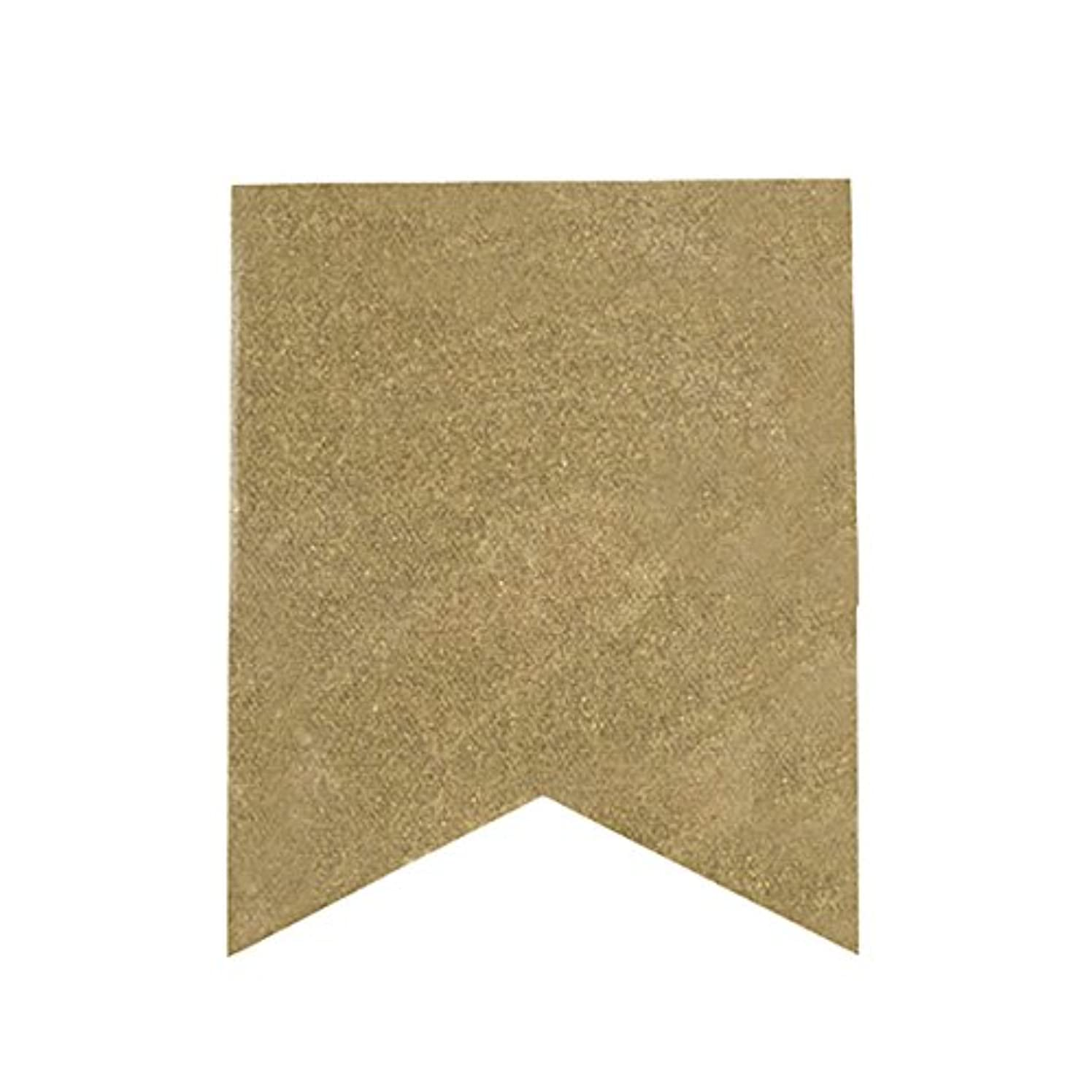 Darice Fishtail Design, Glittery Canvas Banner Flags in Gold Glitter