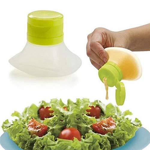 Mini contenitore per insalata, mini contenitore per insalata, per condimenti (7,3 x 5,5 x 6 cm, verde