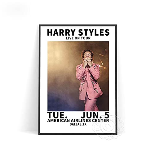 lubenwei Music Star Harry Styles Poster Vocal Concert Singer Posters World Tour Live Picture Wall Stickers Bedroom Wall Decor (AU-1056) 50x70cm No frame