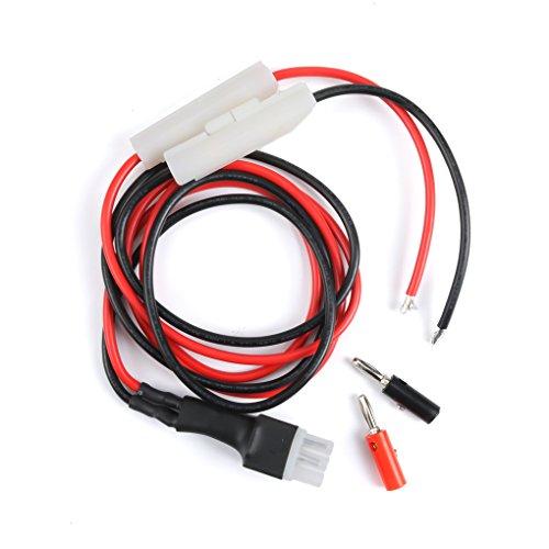 Idyandyans 1M 30A Sicherung Kurzwellen-Stromkabel Kabel für Yaesu FT-857D FT-897D IC-725A