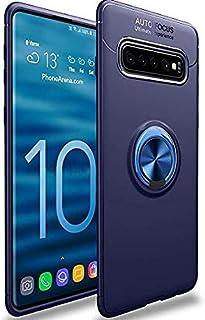 Samsung Galaxy S10 Plus Case,WATACHE Slim Fit Heavy Duty Soft TPU Case with Metal Finger Ring Grip Holder Kickstand Suppor...