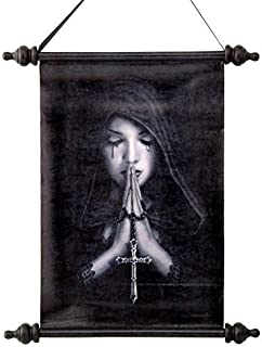Design Toscano Gothic Prayer Canvas Wall Scroll, Full Color