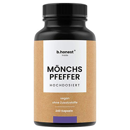 Mönchspfeffer Kapseln - Hochdosiert (Premium 4:1 Extrakt), Kinderwunsch - 240 Kapseln (8 Monate) -...