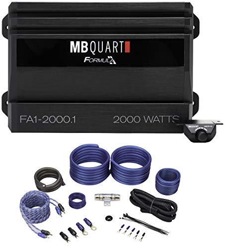 MB QUART FA1-2000.1 2000 Watt Mono Amplifier Car Audio 1-Ohm Class-D+Amp Kit