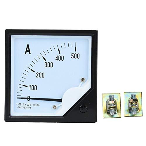 Medidor de Corriente Analógico Panel Cuadrado Medidor de Amplificador Analógico Amperímetro Prueba de Medidor Detectores 500A 1.5 Precisión