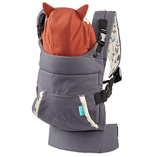 Infantino Cuddle Up Carrier - Ergonomic Fox-Themed face-in Front Carry and Back Carry with Removable Character Hood for Infants and Toddlers 12-40 lbs