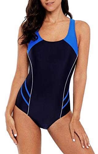 beautyin Sporty Swimsuits for Women Resistant Athletic Swimwear Swimming Suit L