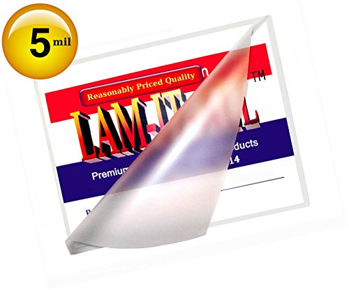 Hot Legal Laminating Pouches 5 Mil 9 X 14-1/2 [Pack of 100] Clear by LAM-IT-ALL