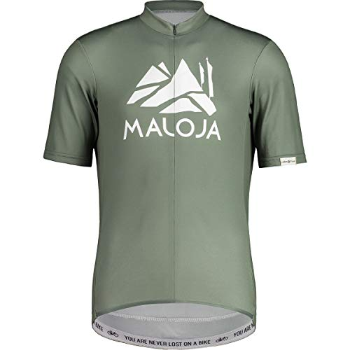 Maloja M Sanetschm. 1/2 T-Shirt Grün, Herren T-Shirt, Größe XL - Farbe Cypress