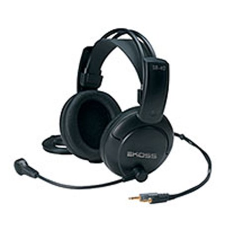 Koss SB40 Over-Ear Communication Gaming Headset Kopfhörer mit Mikrofon - Schwarz