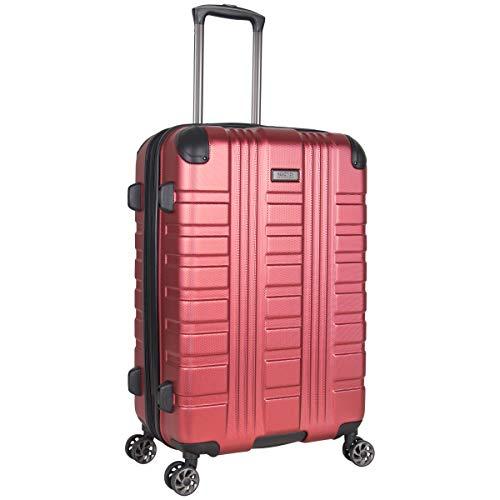Kenneth Cole Reaction Scott's Corner Hardside Expandable 8-Wheel Spinner TSA Lock Travel Suitcase, Red