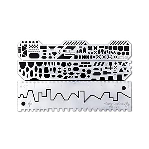 エッチングガイド スジボリ ガイド すじぼり プラモデル ガイドテープ 「複雑なパターンも表現可能!」 ディテールアップ エッチング パーツ ロボット スケール モデル 【MintJams】 (タイプB)