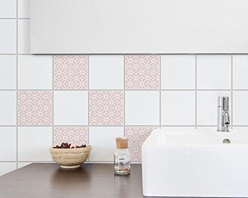 Plage 260648 Adhesivos para Azulejos y decoración de la Pared, Vinilo, Rosa, 15x15cm