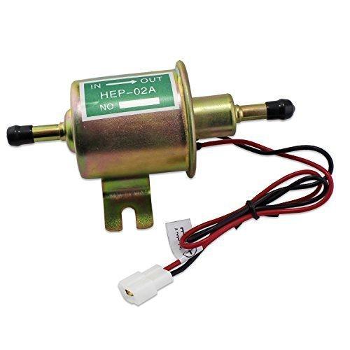 Aussel 12V Universal-Heavy Duty Elektrische Kraftstoffpumpe Metallniederdruck -Bolt Befestigung Draht Inline für Benzin & Diesel HEP-02A
